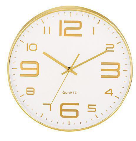 Relógio de Parede Branco e Dourado  - Haus In