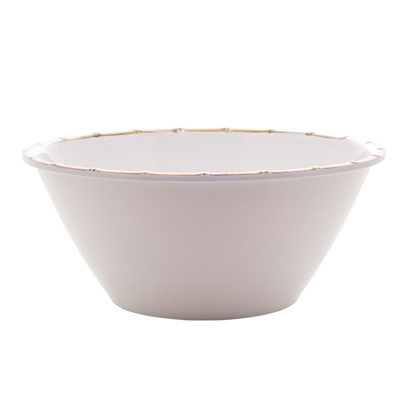 Saladeira Melamina Bambu Branco - Bon Gourmet