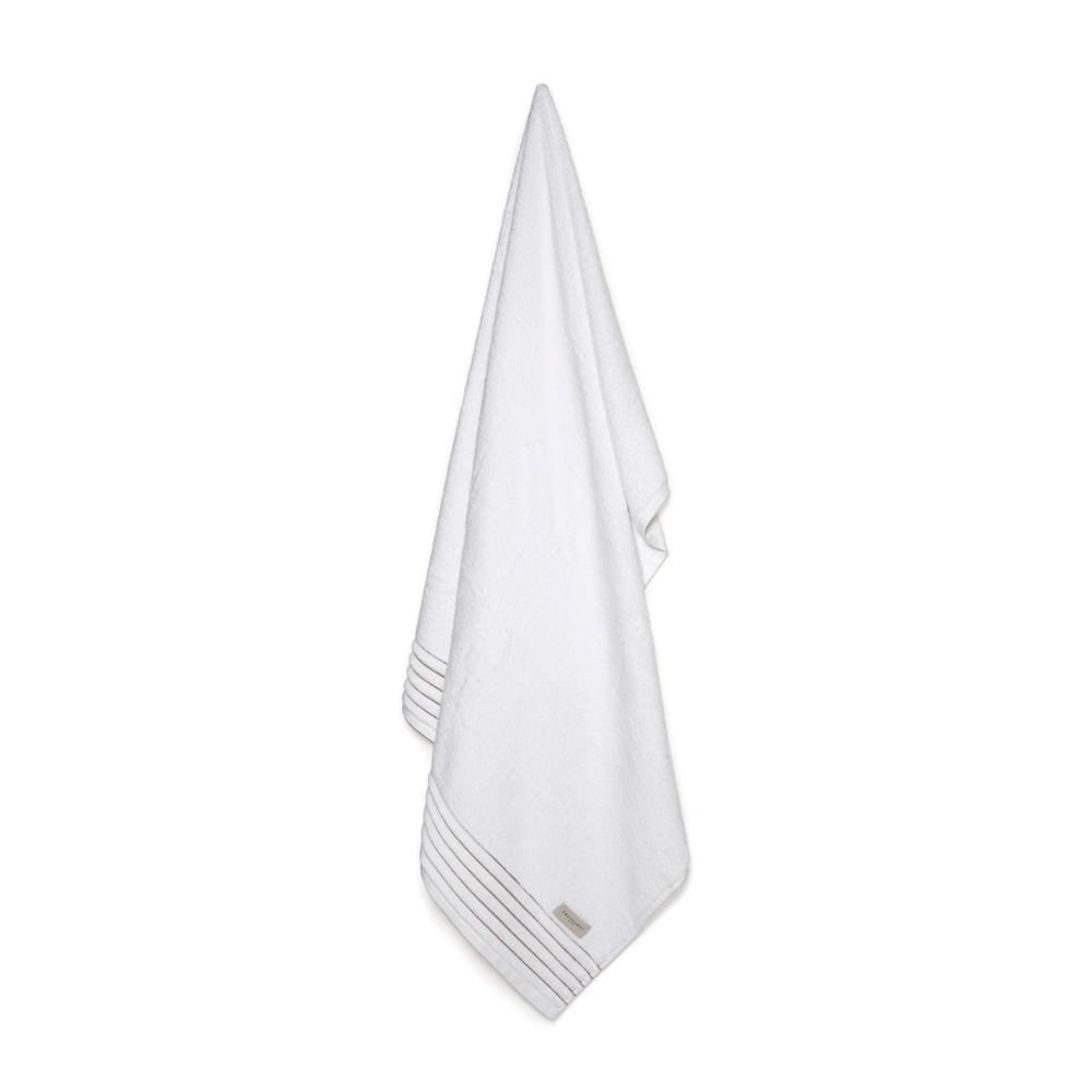 Toalha Banhão Palladio Branco/ Legno - Trussardi