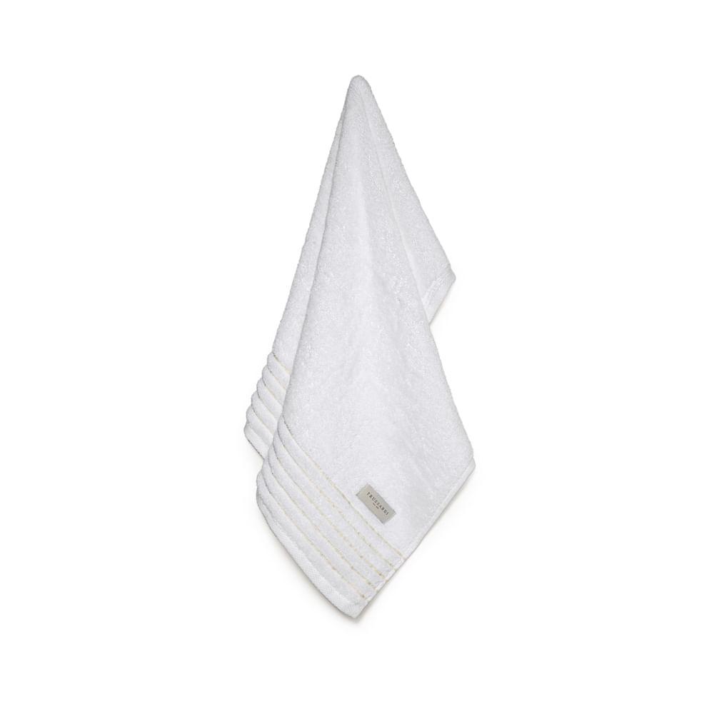 Toalha de Rosto Palladio Branco/ Legno - Trussardi
