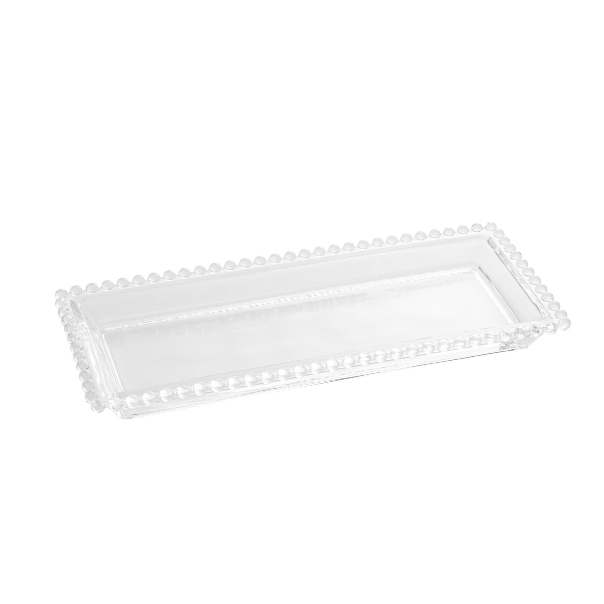 Travessa de Cristal de Chumbo Pearl 30x13x3cm - Wolff  - Haus In
