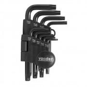 Jogo de chaves Torx, T10 a T50 com 9 peças VONDER