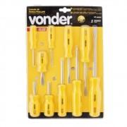 Jogo de chaves de fenda/phillips com 10 peças VONDER