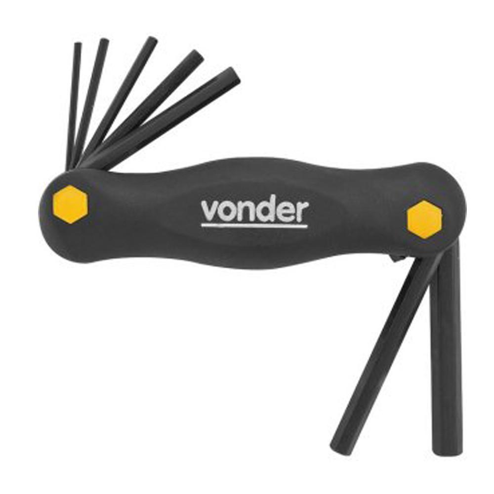 Jogo de chaves Allen 2 a 8 mm, com suporte, com 7 peças VONDER