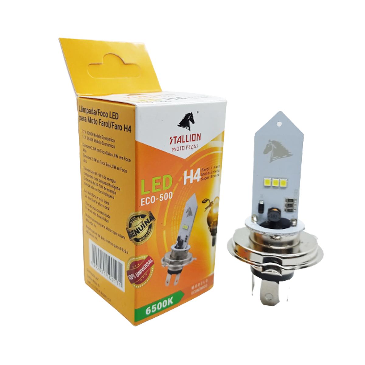 Lampada Farol Led H4 Moto Xre 300 Cg 160 150 125 Titan Fan