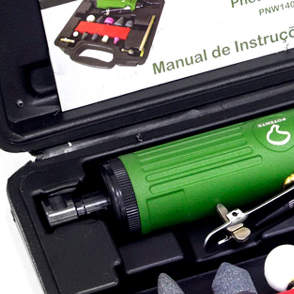 Mini Retifica Pneumática C/ 16 Pcs 25.000 Rpm