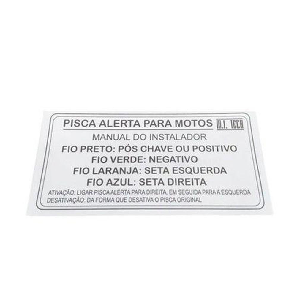 Relé Pisca Alerta Para Motos Sem Corte De Fio Relé Pisca