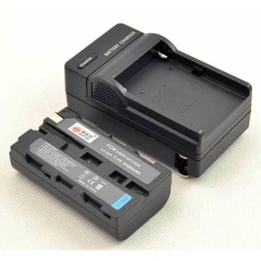Bateria NP F570 com Carregador