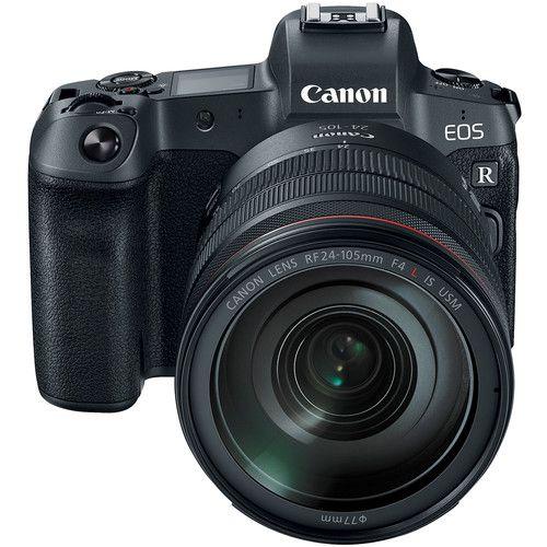 Câmera Canon EOS R c/ Lente 24-105mm f/4 e adapatador EF-EOS R