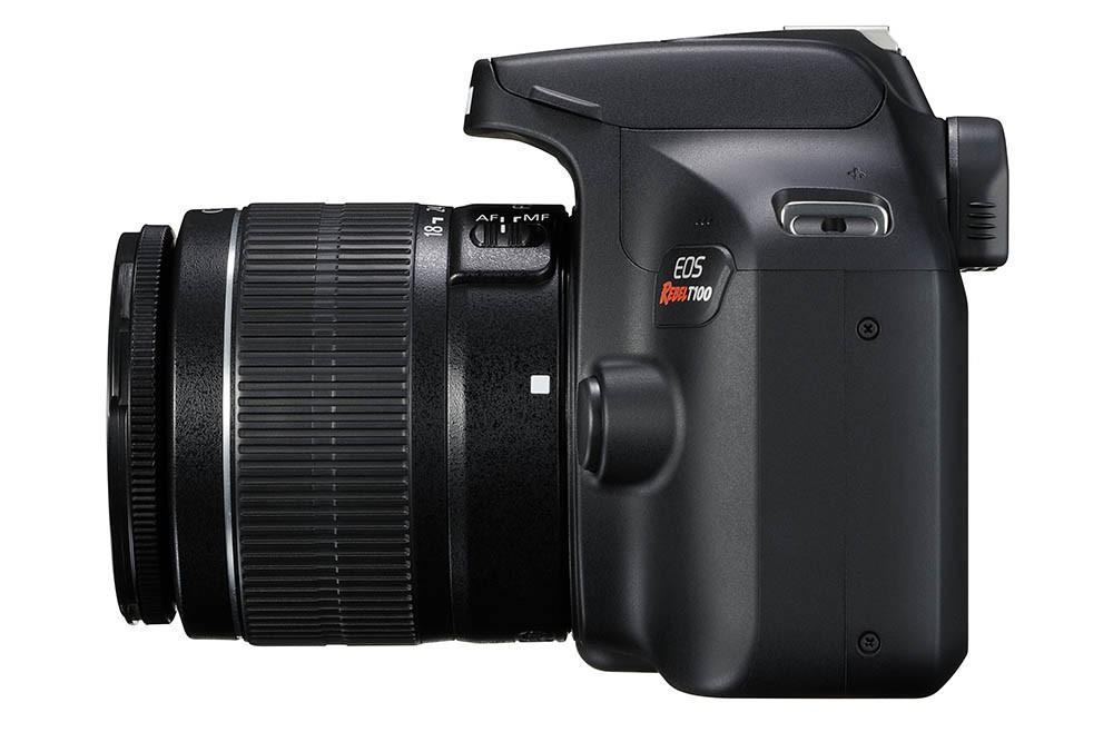 Câmera Canon EOS Rebel T100 Premium Kit com Lente EF-S 18-55mm + EF-S 55-250mm