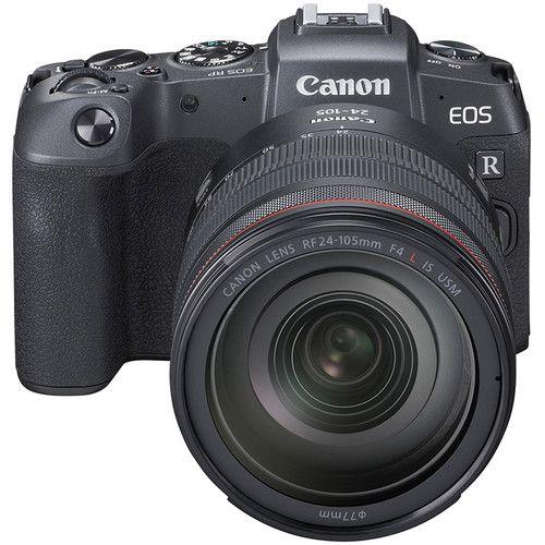 Câmera Canon EOS RP c/ Lente 24-105mm f/4 e adapatador EF-EOS R