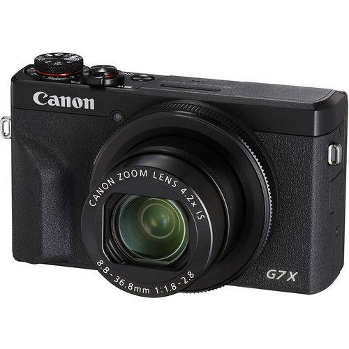Câmera digital Canon PowerShot G7X Mark III (preta)