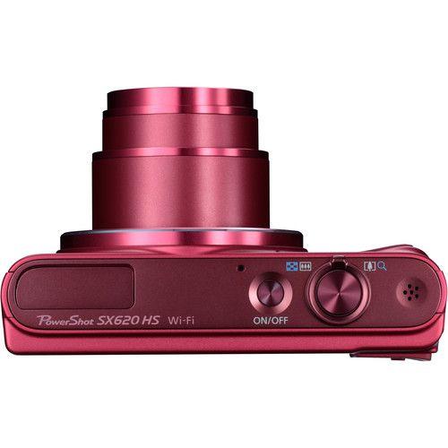 Câmera digital Canon PowerShot SX620 HS (Vermelha)