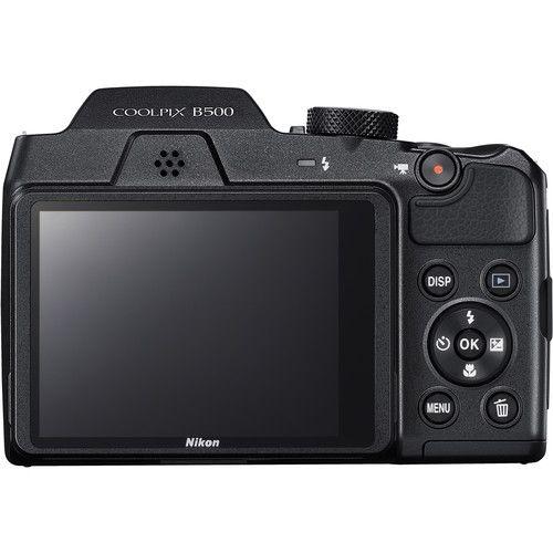 Câmera Digital Nikon COOLPIX B500 c/ Pilhas recarregáveis Sony