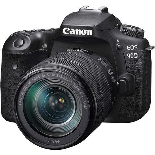 Câmera DSLR Canon EOS 90D com lente 18-135mm
