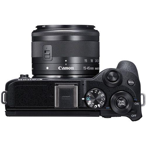 Câmera Mirrorless Canon EOS M6 Mark II c/ 15 -45mm e visor EVF-DC2 (preto)