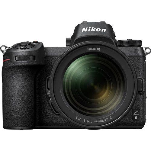 Câmera Mirrorless Nikon Z6 com lente 24-70mm e Adap. FTZ Mount