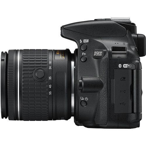 Câmera Nikon DSLR D5600 com lente 18-55mm