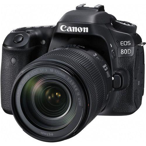 Câmera Canon 80D DSLR C/ Lente 18-135mm F/3.5-5.6 IS USM