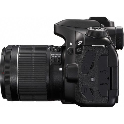 Câmera Canon EOS 80D DSLR C/ Lente 18-55mm