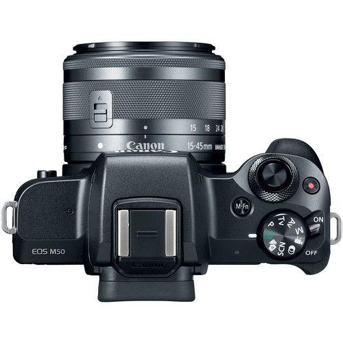 Câmera Canon EOS M50 Mirrorless C/ lente 15-45mm