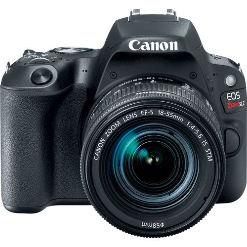 Câmera Canon EOS Rebel SL2 DSLR C/ Lente 18-55mm