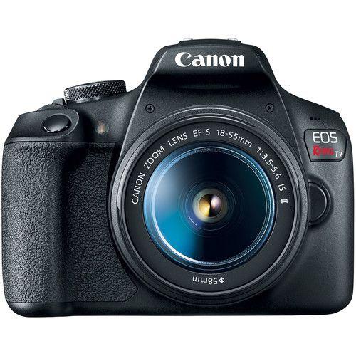 Câmera DSLR Canon EOS REBEL T7+  C/ Lente EF-S 18-55mm