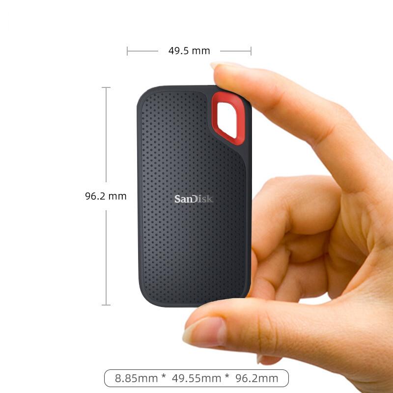 SSD Externo Portátil Sandisk, 1TB, Leitura 550MB/s resistente a água