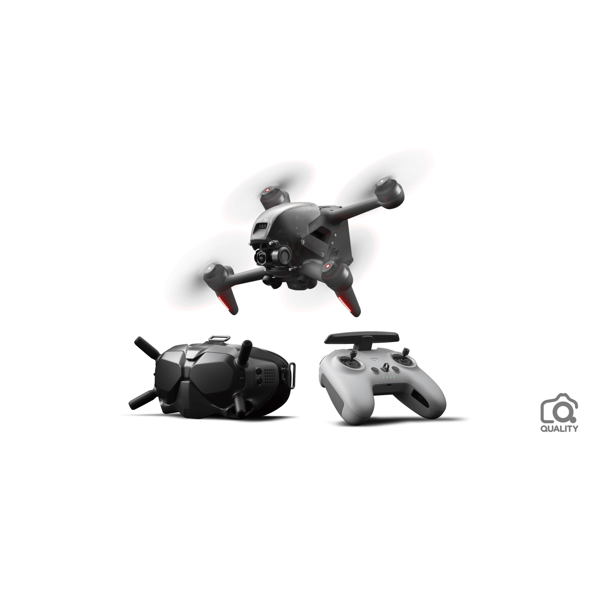 Drone Dji Fpv Combo Kit Óculos/controle + Combo Fly More