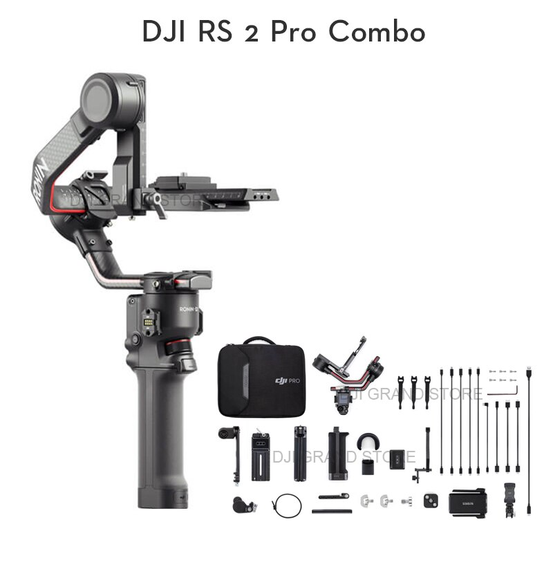 Estabilizador De Imagem Gimbal Dji Ronin Rs 2 Pro Combo