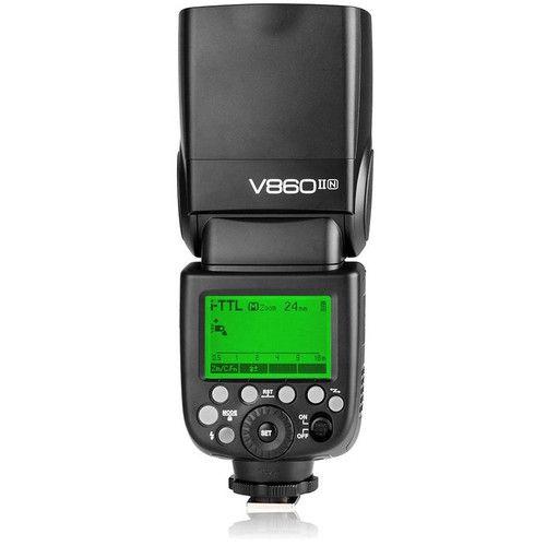 Flash Godox V860 II com Bateria Recarregavel (Nikon)