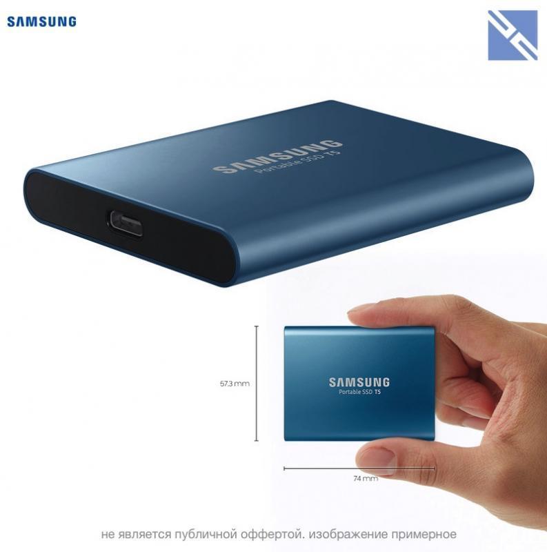 Hd Ssd Externo 500gb Samsung T5 Usb 3.1 Lacrado! (srm-2022)