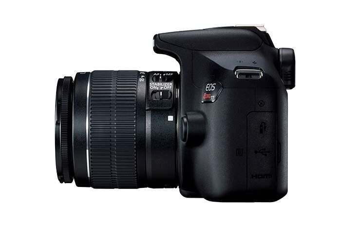 Kit Canon EOS Rebel T7 + Bolsa Canon + cartão 32GB MicroSD + Mini tripé + Kit Limpeza