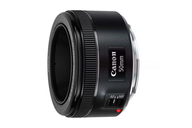 Kit Lente Canon 50mm f/1.8 STM + Filtro UV 49mm Kenko