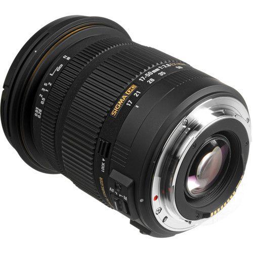 Lente Sigma 17-50mm f/2.8 EX DC OS HSM (Canon EF)