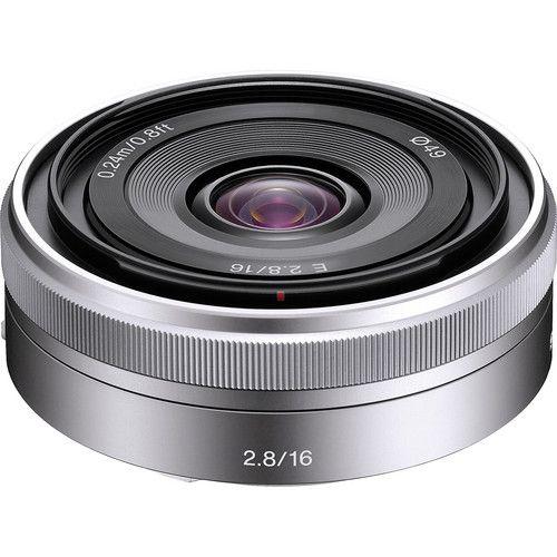Lente Sony E 16mm f/2.8 (Prata)