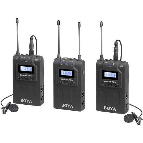 Microfone BOYA BY-WM8 Pro K2 de lapela