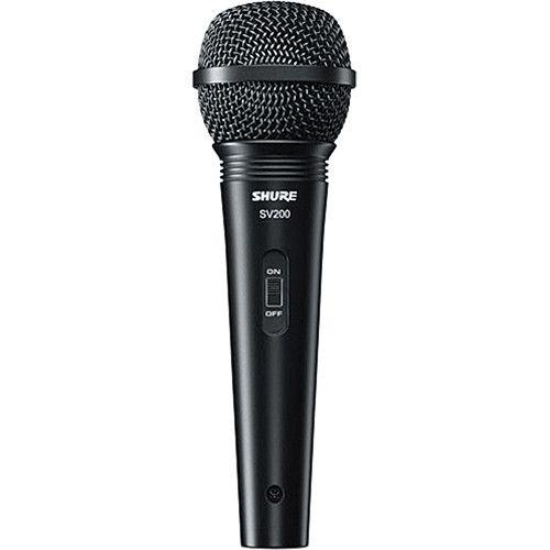 Microfone Shure SV200  Dinâmico Cardióide com Cabo