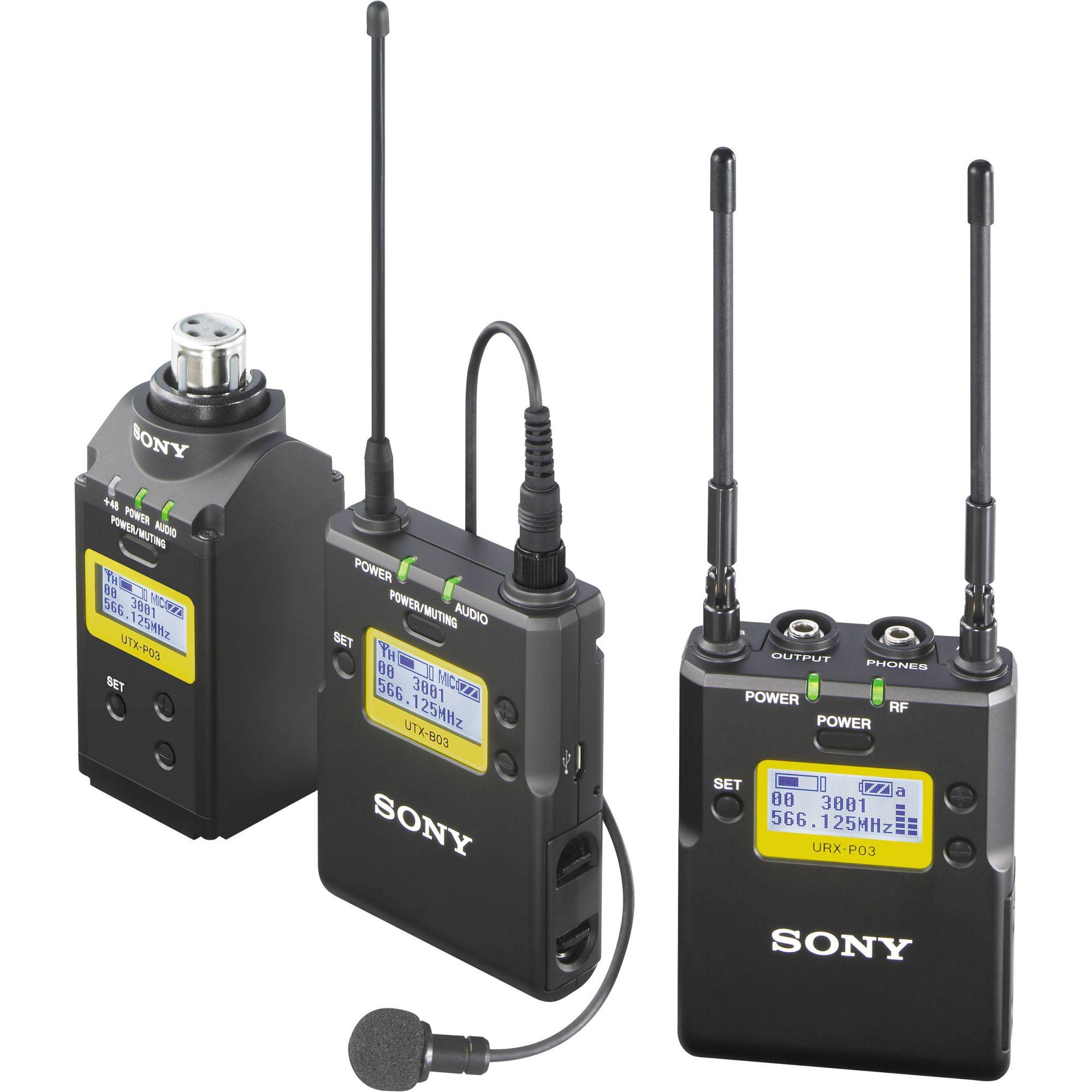 Microfone Sony UWP-D16 de lapela