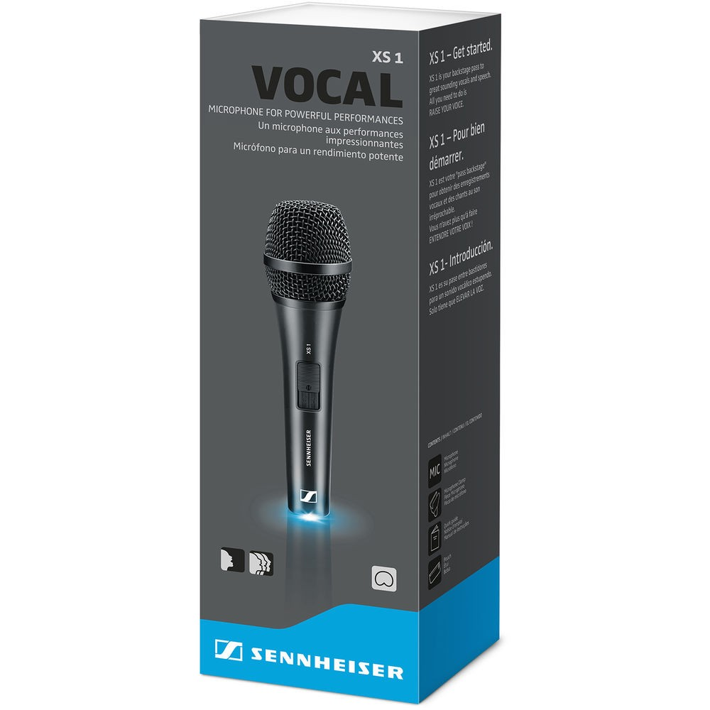 Microfone Vocal Dinâmico Cardioide Portátil XS 1