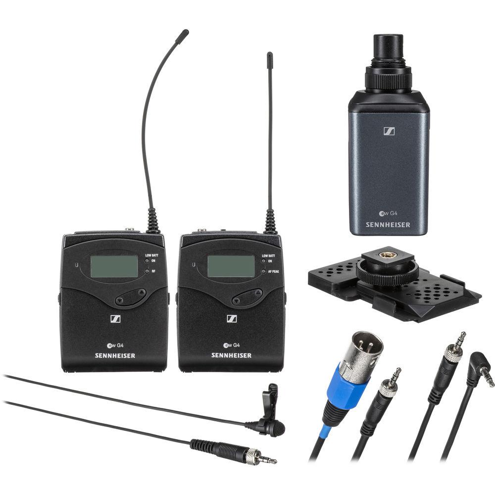 Microfone Wireless Cardioide Sennheiser Combo EW 100 G4