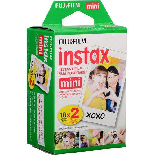 Pacote com 20 poses para Instax Mini