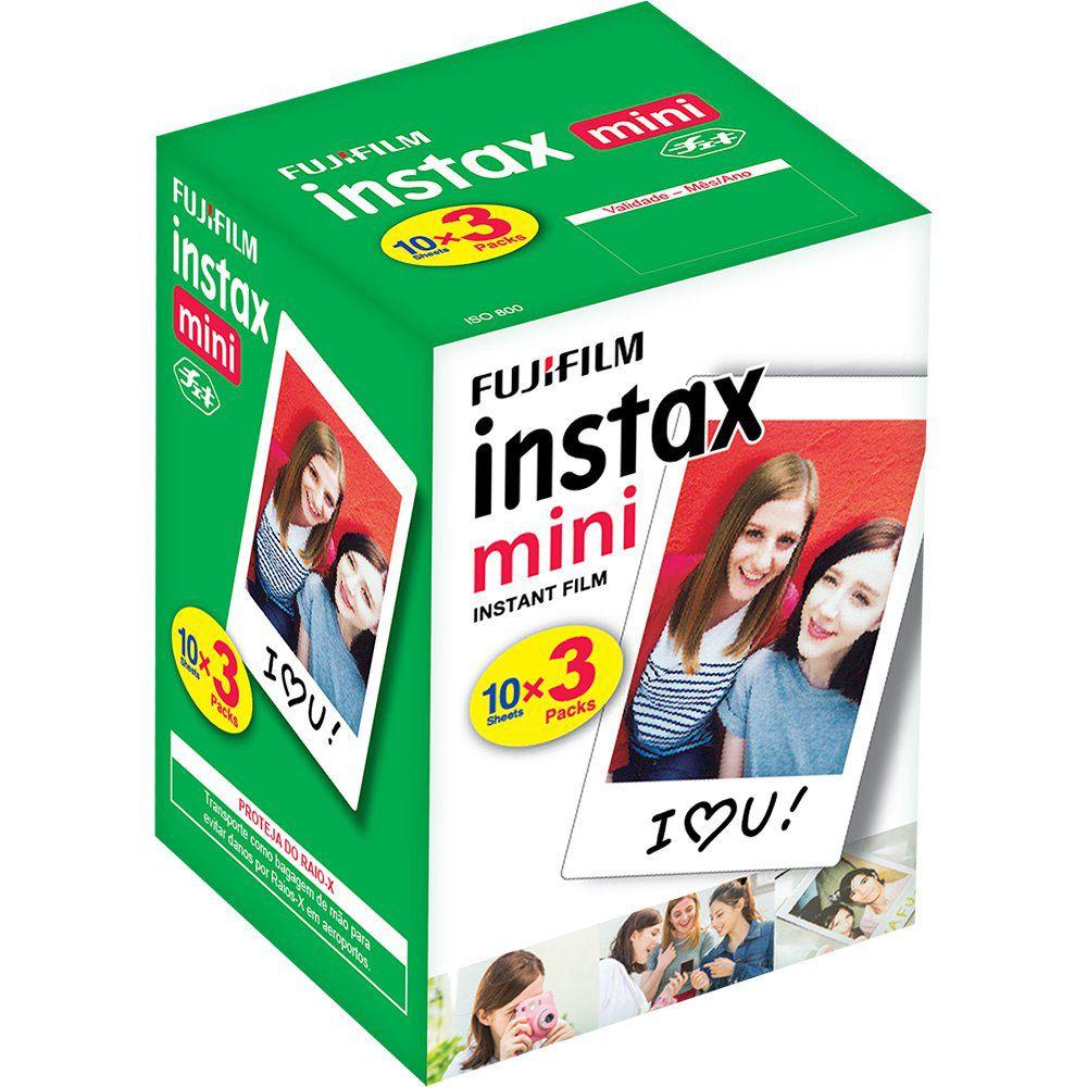 Pacote com 30 poses para Instax Mini