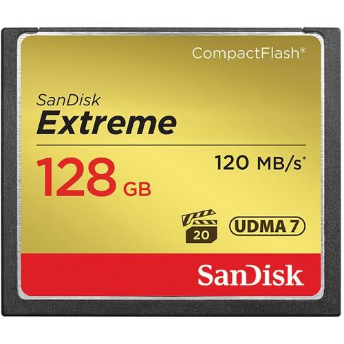 SanDisk Cartão de memória CompactFlash Extreme de 128GB 120mb/s