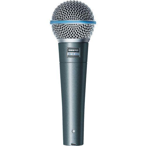 Shure Beta 58A - Microfone Dinâmico Supercardioide Portátil