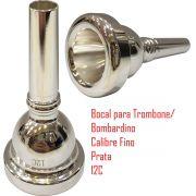 Bocal Para Trombone Ou Bombardino - Calibre Fino - 12c - Dolphin