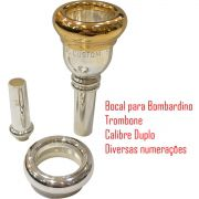 Bocal Para Trombone E Bombardino - Calibre Duplo - Jc Custom