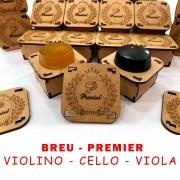 Breu Premier para violino / viola / cello - Preto e natural