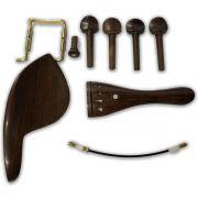 Kit De Acessórios Para Violino Em Rosewood