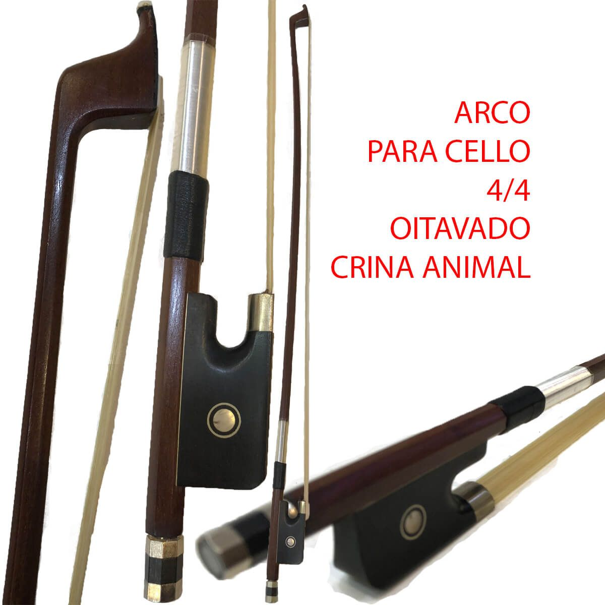Arco Para Cello - Crina Animal - Oitavado
